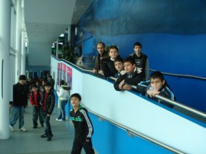 PKC school visit Aquarium with Volunteers